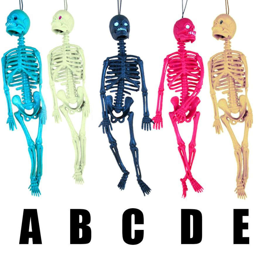 Toy Decor Figure-Toy Hanging-Ornaments Skull Skeleton Human-Model Scary Halloween Whole-Body