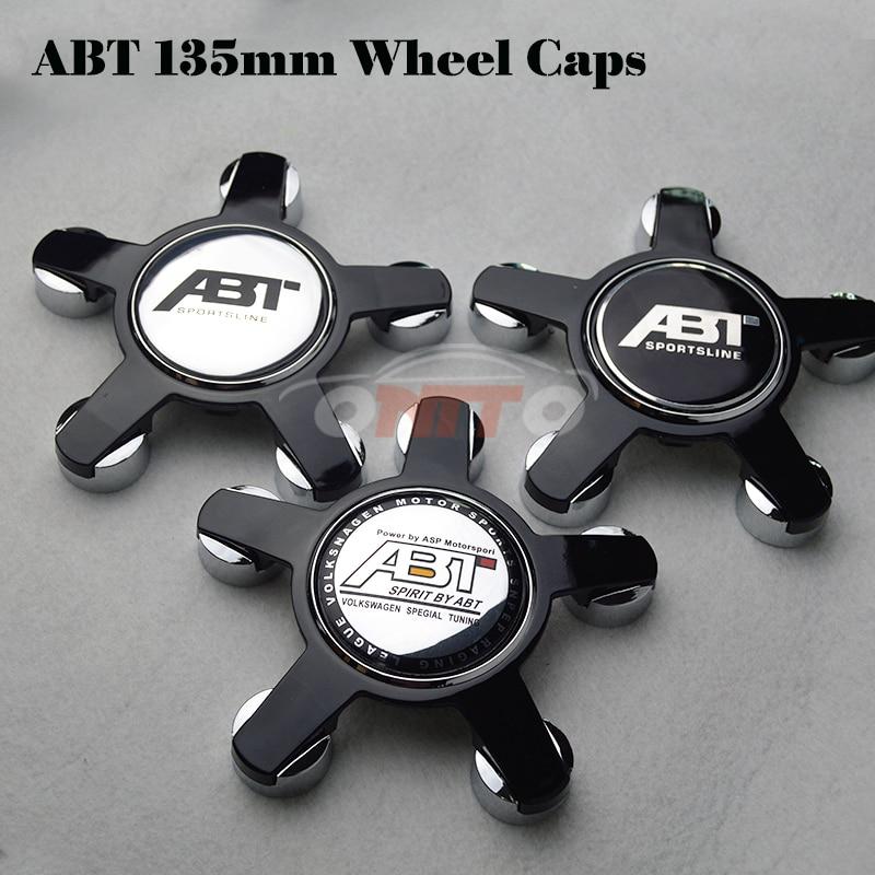 20pcs 135MM 5claw black /gray base wheel center Cover for A4/A5/A6/A7/A8/Q1/Q3 Car Logo Badge Emblem Car Auto wheel hub caps