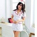 Hot Sexy Set Traje Da Enfermeira Fantasias Sexy Erotic Tempt Traje Cosplay Uniforme Da Enfermeira Vestido Com Decote Em V Bucaneras Mujer