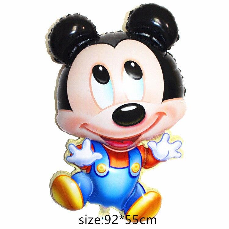 Гигантский мультяшный милый мышонок мультяшный воздушный шар из фольги воздушный шар детский день рождения украшения Классические игрушки подарок мультяшная шляпа - Цвет: 1
