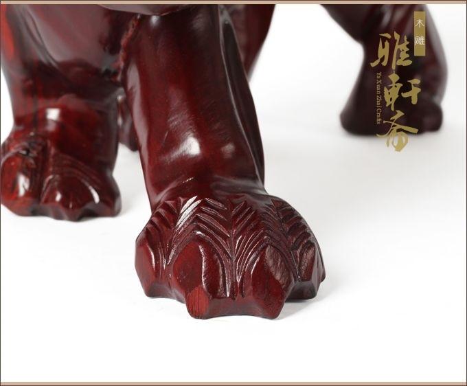 V rosewood escultura em madeira e ornamentos