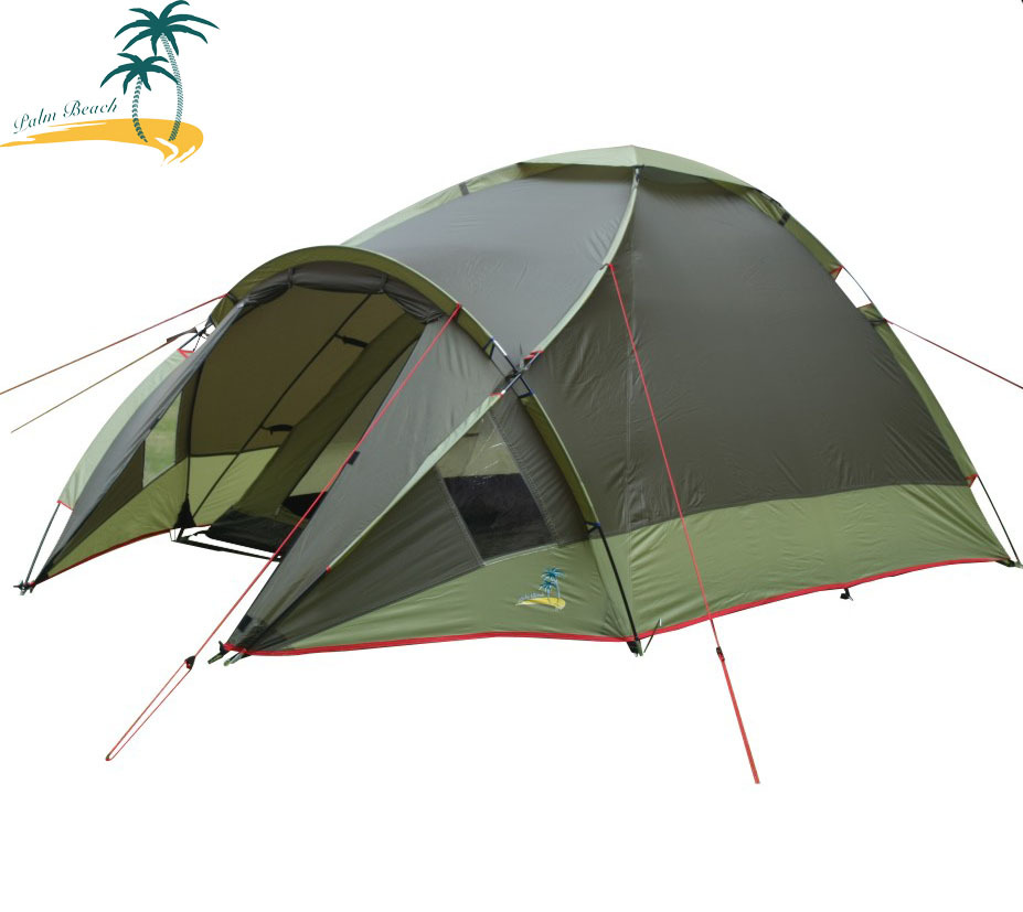 Outdoor sports 3-4 double layer fiberglass rod camping tent export top quality guarantee Fireproof waterproof high quality outdoor 2 person camping tent double layer aluminum rod ultralight tent with snow skirt oneroad windsnow 2 plus