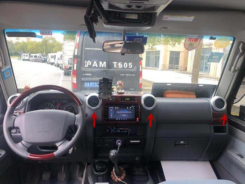 Accessoires ABS anneaux de décoration de sortie d'air avant autocollants pour Toyota Land Cruiser J70 LC71 LC76 LC77 LC79 LC70 style de voiture