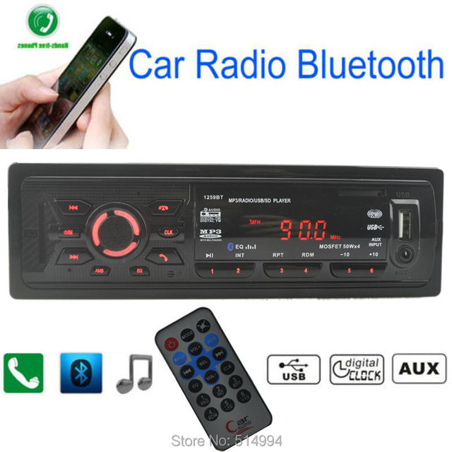 2016 New car radio mp3 player Support BLUETOOTH Hands free speaking AUX IN USB SD 12V 1 din car audio stereo mp3 free shipping