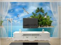 WDBH 3d wallpaper custom photo Seaside coco island scenery living room home decor 3d wall murals wall papers for walls 3 d