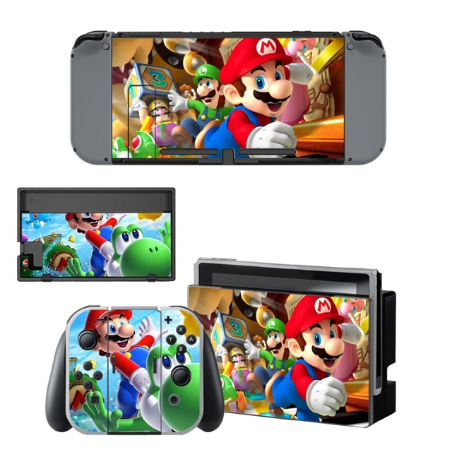 Nintend Switch Vinyl Skins Sticker For Nintendo Switch Console and Controller Skin Set - For Super Mario 1