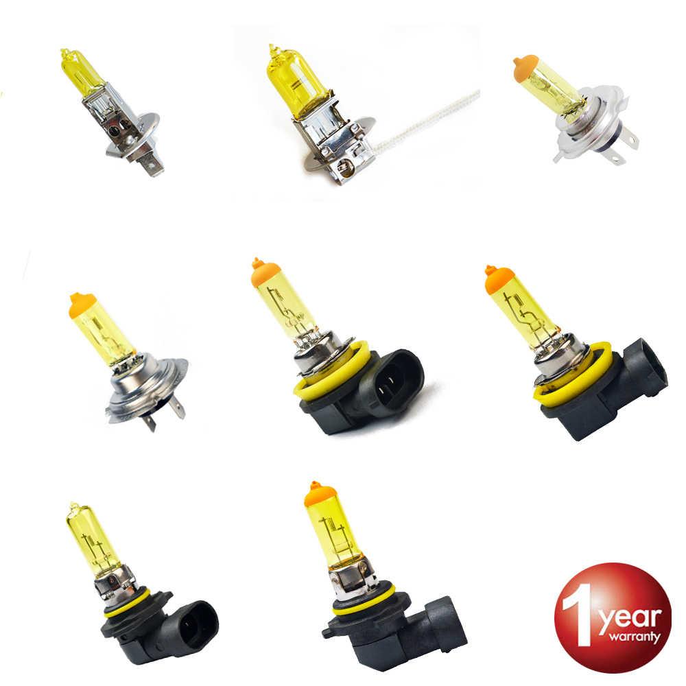Hippcron автомобиля галогенная лампа 12 В 55 Вт 60 Вт желтый 1 шт. H1 H3 H4 H7 H8 H11 9005 HB3 9006 HB4 фар автомобиля противотуманной фары