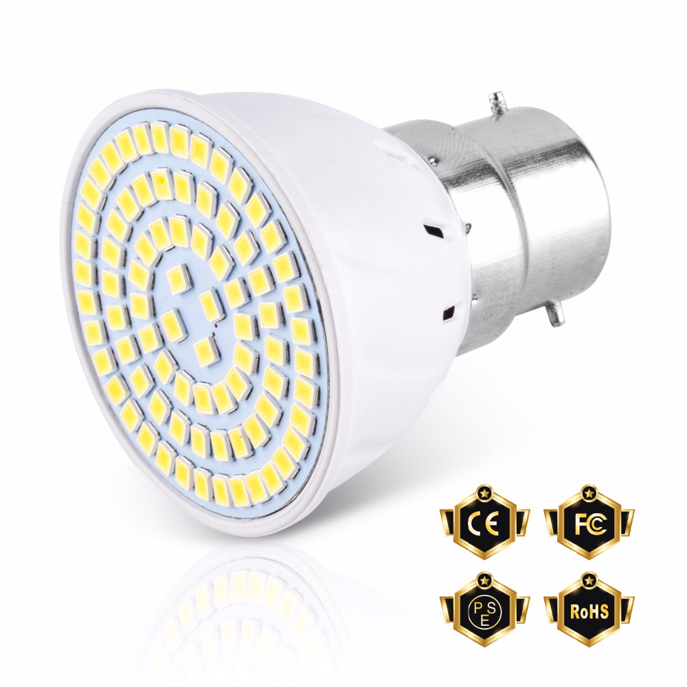 LED E27 Lamps SMD2835 Spotlight Bulb GU10 220V E14 Ampoule Bedroom B22 Energy Saving Home Lighting MR16 Bombillas 48 60 80leds