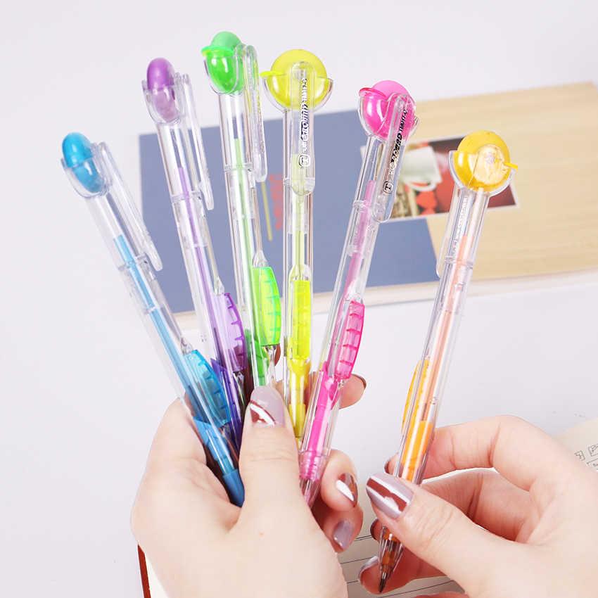 1PC Kawaii מתגלגל מחק קריקטורה מכאני עפרונות לילדים כתיבת ציור עיפרון משרד אספקת נייר