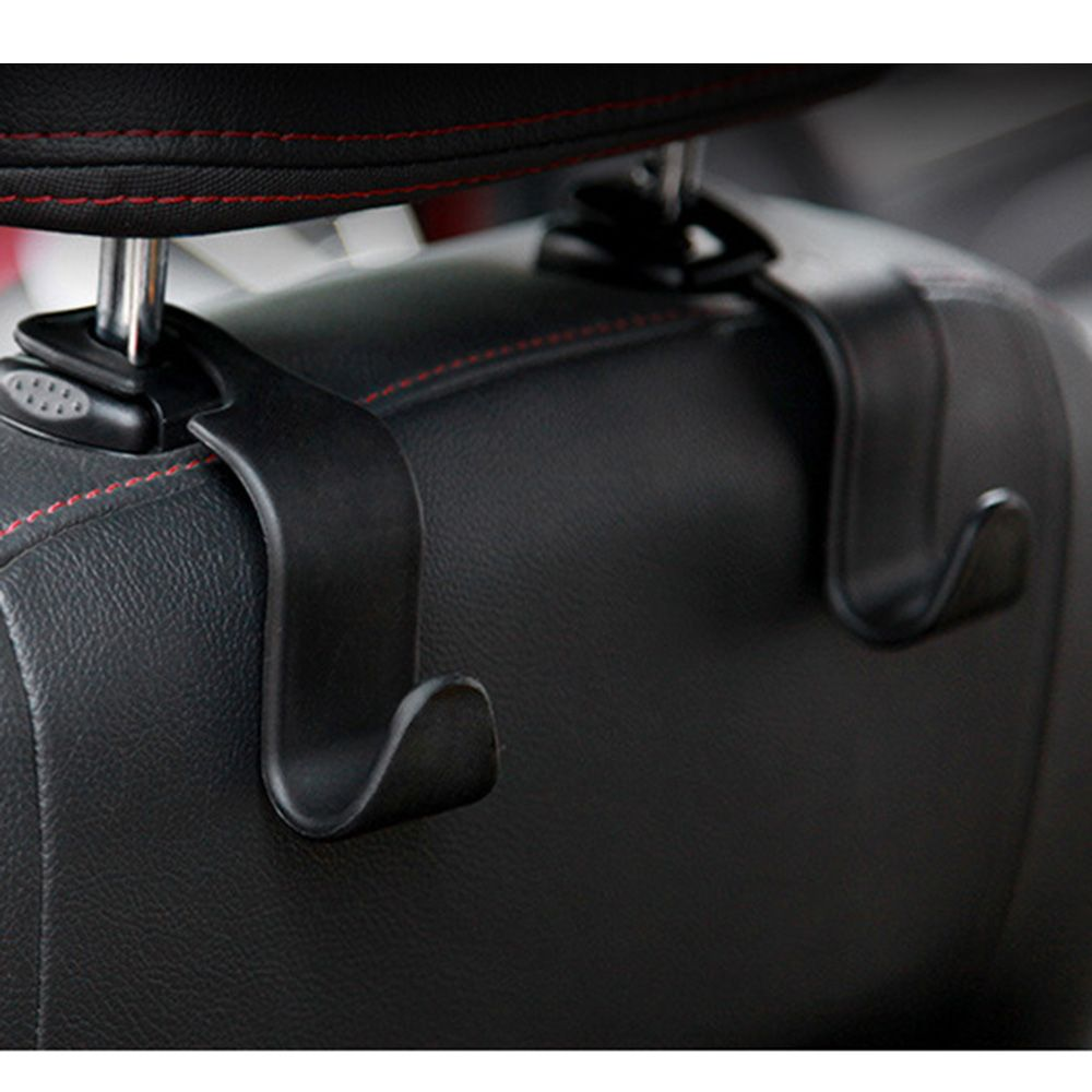 Seat Backside To Hook Your Bags Item Type Car Material Plastic Suitable Occasion Color Black Quantity 2pc Can Bearable Weight Under