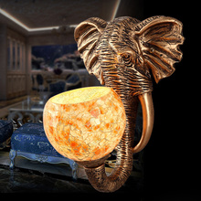 5W Retro LED Elephant Wall Sconces Light Gold Lamp E27 Bulb Indoor Bedroom Lobby Living Room Warm White