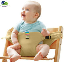 Baby saft Chair Cover fixed Belt dinning lunch chair/seat safety belt/portable infant seat/dinning(China)