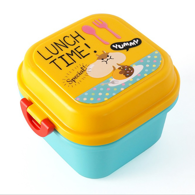 Children's Cartoon Double Compartment Lunchbox