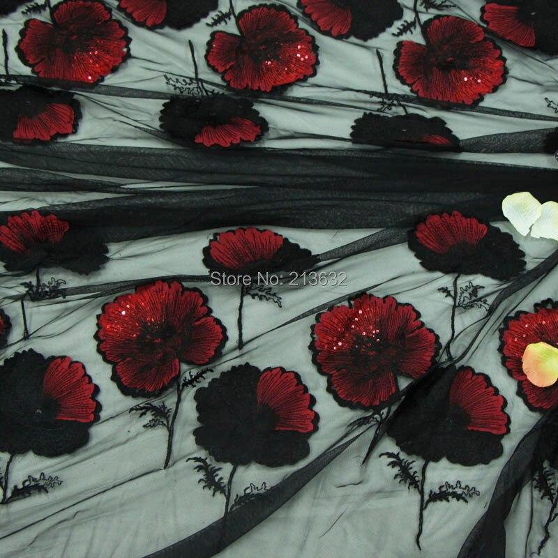 POp73-16 hilo textil puntilla bordado tela bordado ordenador algodón tela fina flor parche materiales hilo