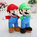 25 cm Nuevo Llega Cartoon Super Mario Muñecos de Peluche Super Mario Suave Mario Luigi Mario Bros de la Felpa de peluche Juguetes para Niños de Regalo PP algodón