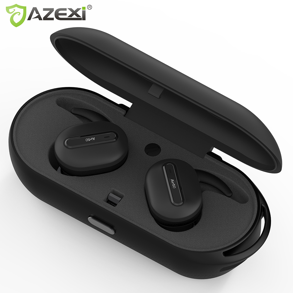 True Wireless Bluetooth earphones Stereo Binaural Sports Earbuds In Ear Earphone Built in Microphone with Chargeable