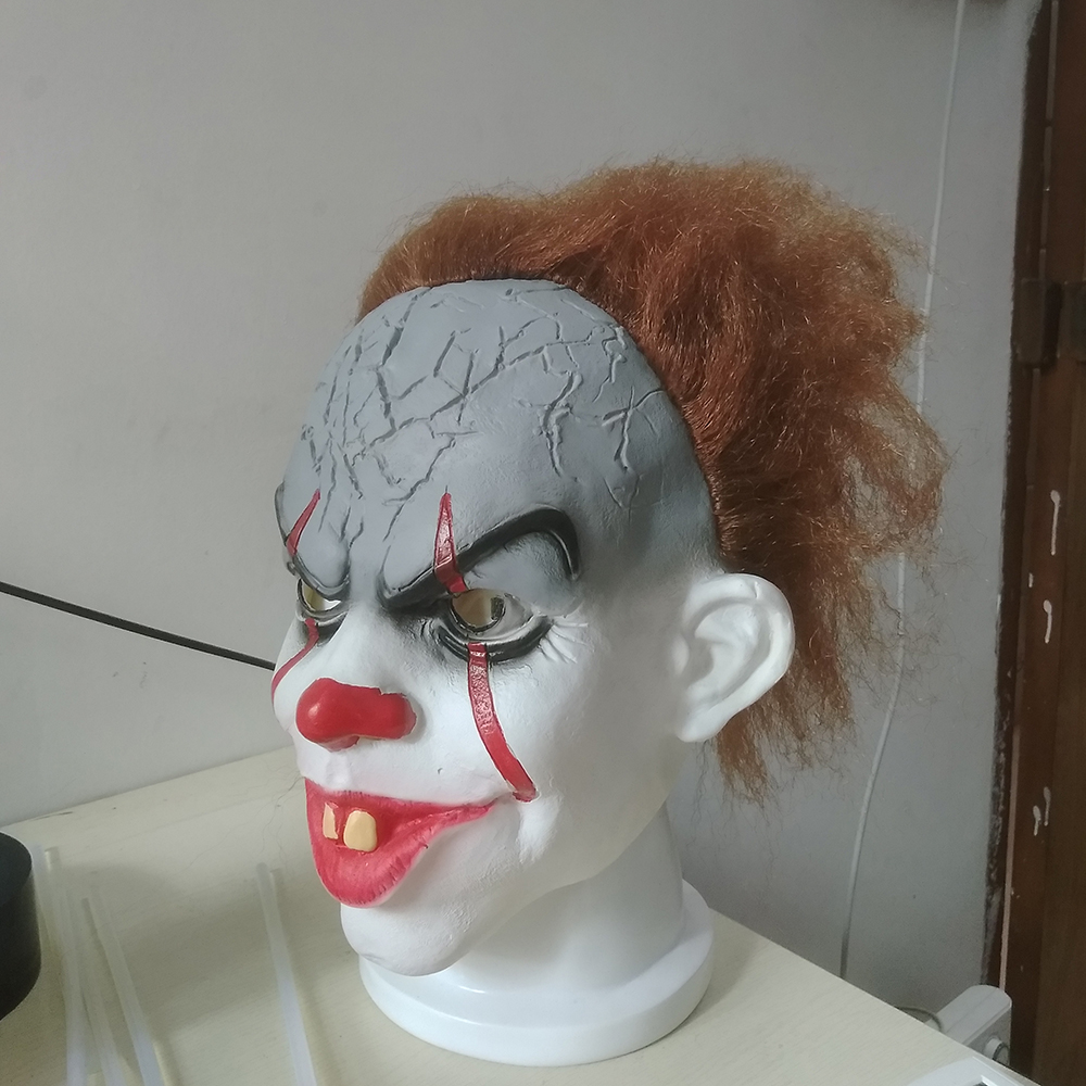 2017 Movie Stephen King's It Pennywise Clown Joker Mask Tim Curry Horrible Mask Cosplay Halloween Party Prop Clown Mask Latex