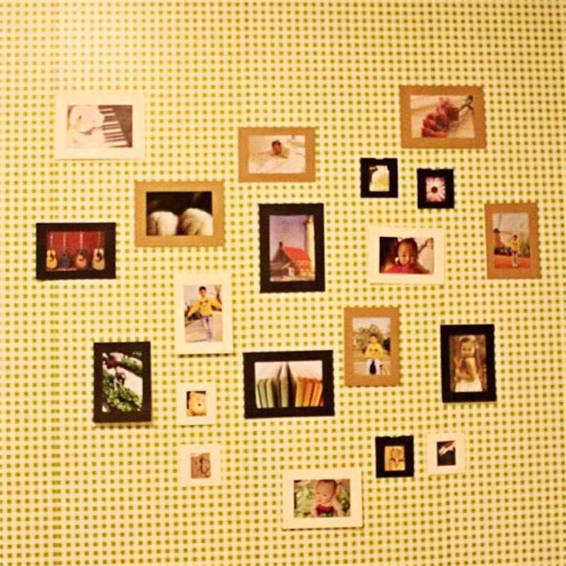 جديد حار ورقة إطار صور الساخن 10 قطعة 3 بوصة أوراق لطيفة إطار صور جدار ألبوم صور معلقة حبل مخيم Envio مجانية