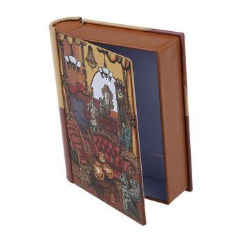 LHBL 1pc creative mini European style books shape candy storage box wedding favor tin box zakka cable organizer container hous Storage Boxes & Bins