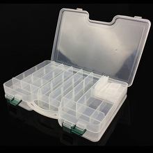 29.5 x 19 6cm Movable Compartments Fishing Tackle Box Double Sided Lure Bait Hooks Storage Case