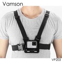 Vamson עבור Gopro אביזרי חזה רצועת חגורת גוף חצובה רתם הר Eken עבור Gopro גיבור 9 8 7 5 6 4 עבור יי 4K VP203