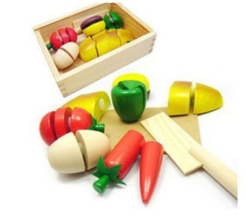 2015 New Children Kitchen Toys/Funny Cutting Fruit Vegetable Pretend Toys/Colorful Toys for Kids TOP40