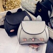 Hohe qualität Koreanische zahnstocher korn handtasche neue handtaschen Japanischen stil wings niedlich katze schultertasche freizeit umhängetasche handtasche