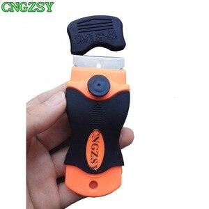 Image 5 - Écran de téléphone portable couteau à colle + 100 lames métalliques démonter grattoir propre pelle à polir Oca adhésif outils de voiture K03