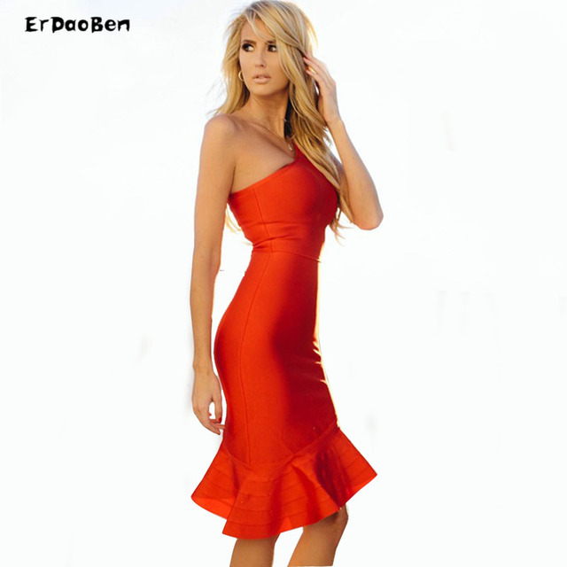 New dress white red black color Stretch tight Fashion personality ...