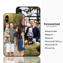Custom Design Valentines Day Gift Her Photo Phone cases Black Sotf TPU Cover Case for Apple iPhone 6 6S 7 8 Plus 5s X XR XS MAX