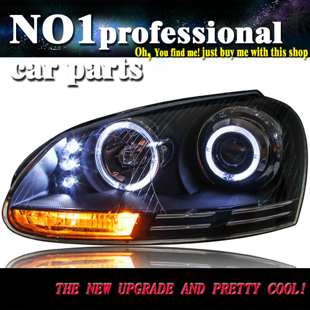 Car styling for vw jetta headlights 2006 2010 mk5 led headlight led drl bi xenon