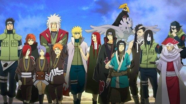 the main characters naruto shippuden anime poster silk fabric cloth