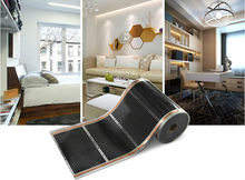 Free Shipping To Uzbekistan AC220V 75m2 Infrared Underfloor Heating Film 220W/sq meter 0.5mx150m With Accessories