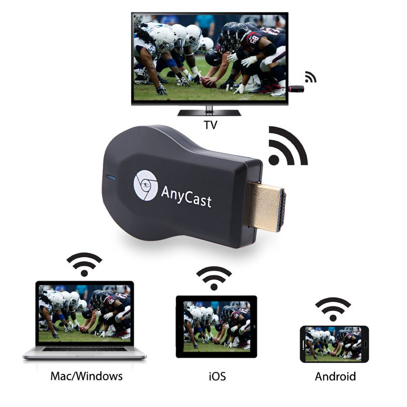 """HDMI Full HD1080P"" ""Miracast"" DLNA ""Airplay"" M2 ""Anycast"" TV lazdas ""WiFi"" ekrano imtuvas ""Dongle"" palaikymas ""Windows Andriod TVSE3"""