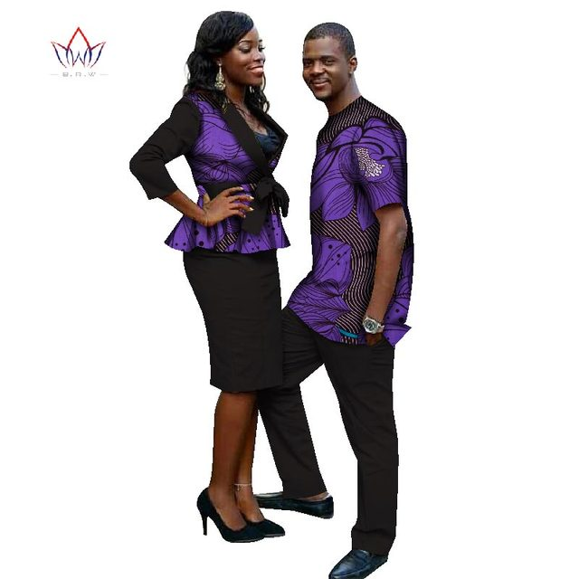 43f77bad86f 2019 New Lovers Womens Mens African Clothing Two Sets Matching Couples  African Clothes four pieces Clothes Couple none WYQ31
