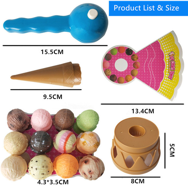 Toy Ice Cream cone with realistic Ice Cream Cones for Kids