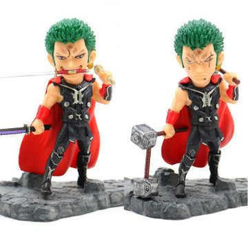 Q 13 centímetros Thor figuras Zoro ONE PIECE Anime Figura PVC modelo Coleção figuras de Ação original para as crianças brinquedos de presente