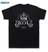 GILDAN Cotton O Neck Printing Fashion T Shirt Kings Of Leon T Shirt KOL Crown Logo