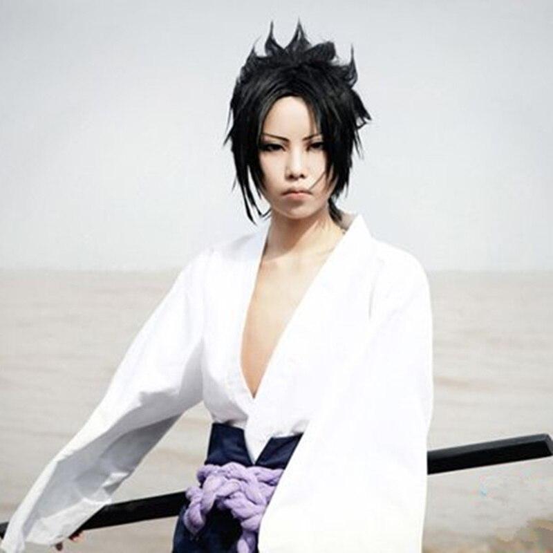 Uchiha Sasuke cosplay costumes anime Naruto Shippuden clothing third Generation Clothes (Blazer+pants+Waist rope+handguard)