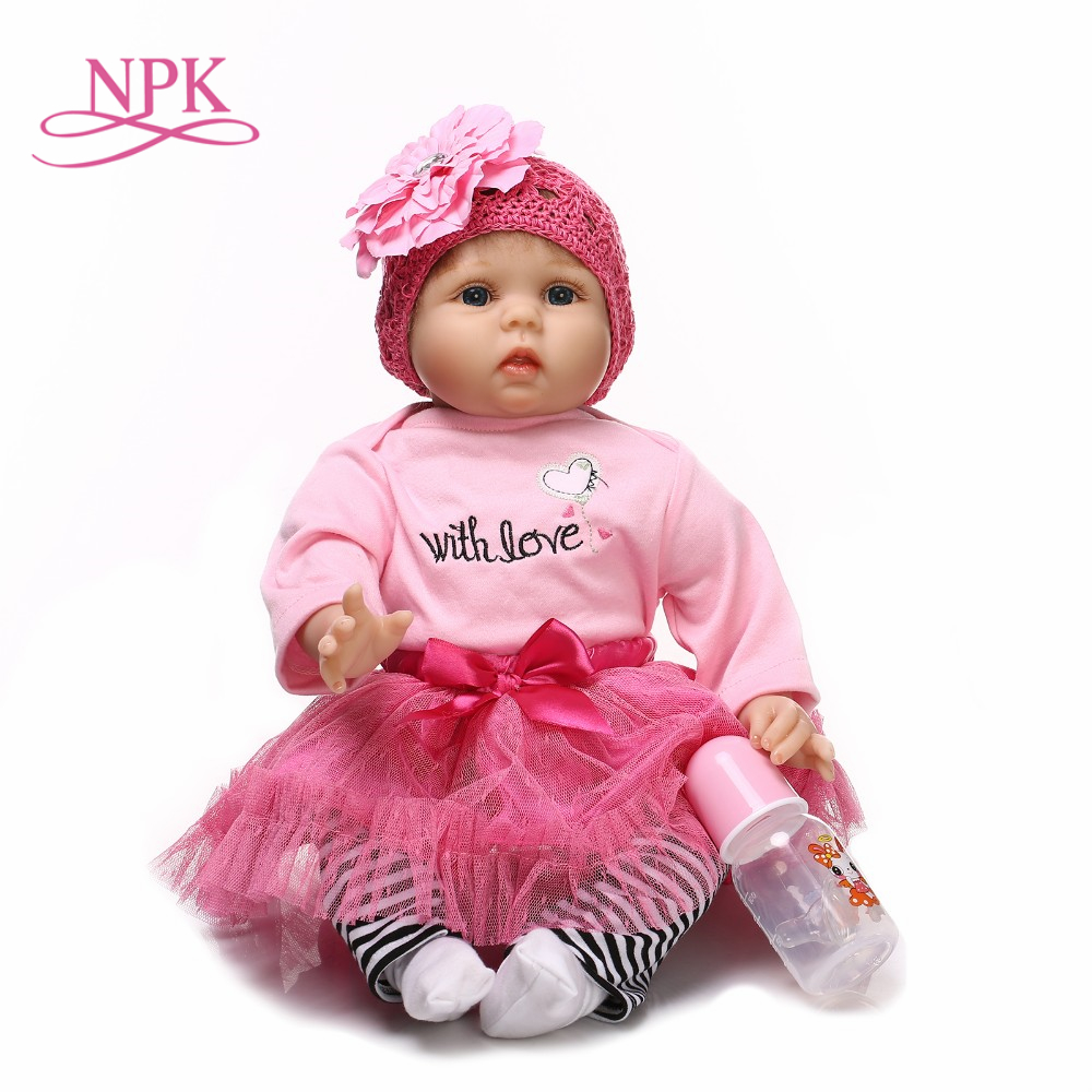 NPK reborn doll with soft real gentle touch handmade adora doll silicone vinyl lifelike baby Christmas Gift sweet baby