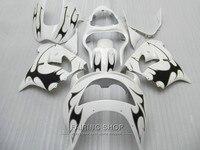 New hot body parts fairing kit For Kawasaki ZX9R 98 99 classical white black fairings set ninja zx9R 1998 1999 XG21