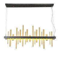 Art design for dinning room Black Gold 120cm chandelier lights Modern led lustres Restaurant exhibition hall shop lamp