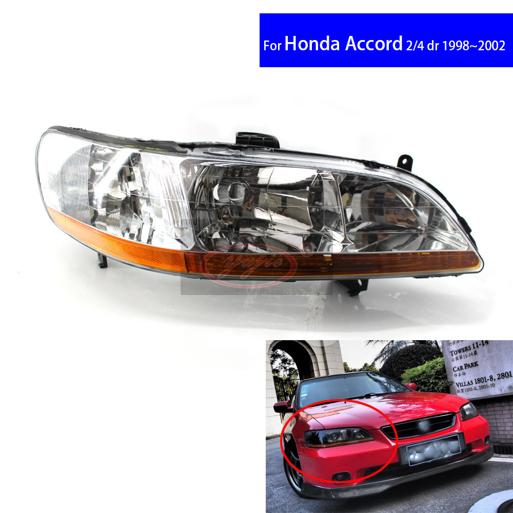 Chrome Front Diamond Car Headlights for Honda Accord CG5 1998 1999 2000 2001 2 / 4 DR Car Light Assembly Auto Headlamp for chery riich m1 headlights headlight assembly front lights light headlamp 1pcs