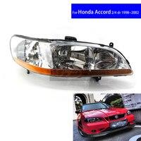 Chrome Front Diamond Car Headlights for Honda Accord CG5 1998 1999 2000 2001 2 / 4 DR Car Light Assembly Auto Headlamp
