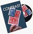 2016 nuevas llegadas de contraste (dvd y truco)-magic trick, etapa magic, close up, tarjeta magic accesorios, diversión, ilusión, mental