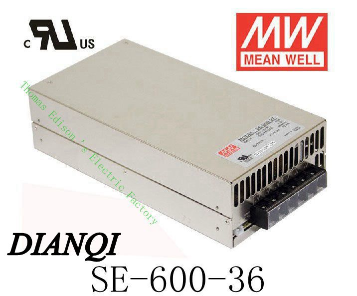 Original MEAN WELL power suply unit ac to dc power supply 600W 36V 16.6A SE-600-36  MEANWELL good quality original power suply unit ac to dc power supply nes 350 12 350w 12v 29a meanwell