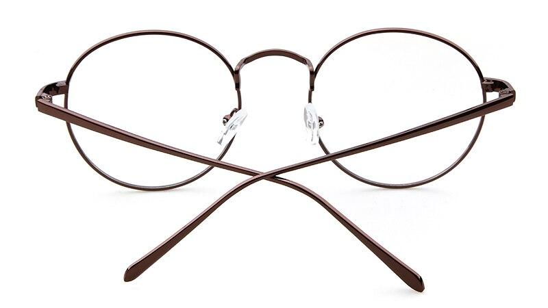 Круглые очки longkeeper черные серебристые золотистые оправа