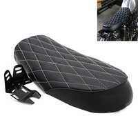 Motorcycle PU Leather Saddle Seat Vintage Seat Flat Saddle Cushion for Cafe Racer CB400 CB650 CB750 CG125 GN250 CL100 CL125S