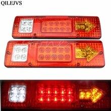Car Styling 2pcs 19 LED Car Truck Trailer Rear Tail Stop Turn Light Indicator Lamp 12V Drop shipping