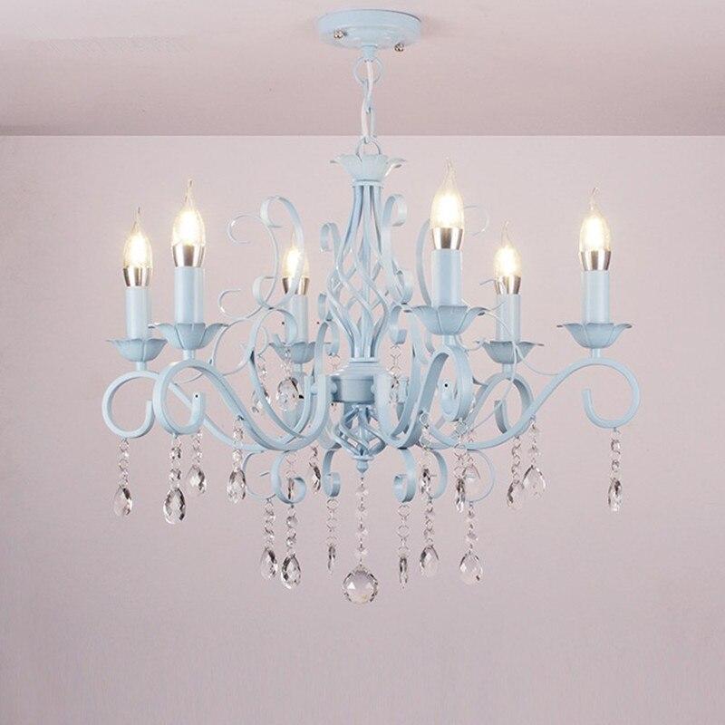 E14 Bougie En Verre Clair Cristal De Fer Lustre Traditionnel Vintage Lampe Luminaire